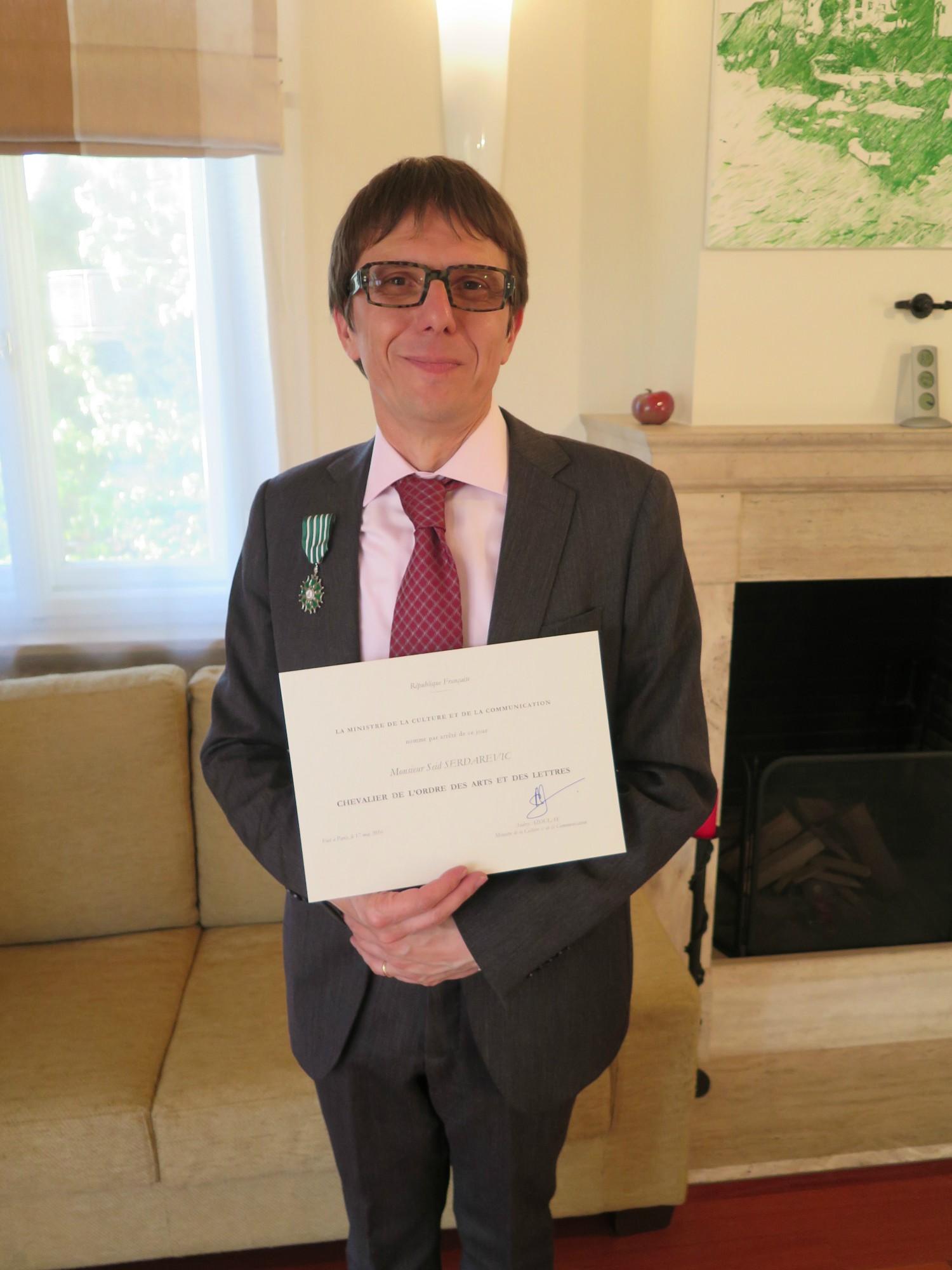 Seid Serdarević, Vitez reda umjetnosti i književnosti