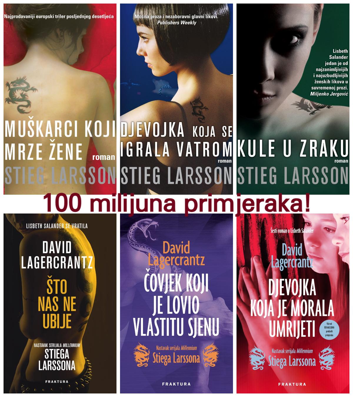 Serijal Millennium – više od 100 milijuna prodanih primjeraka