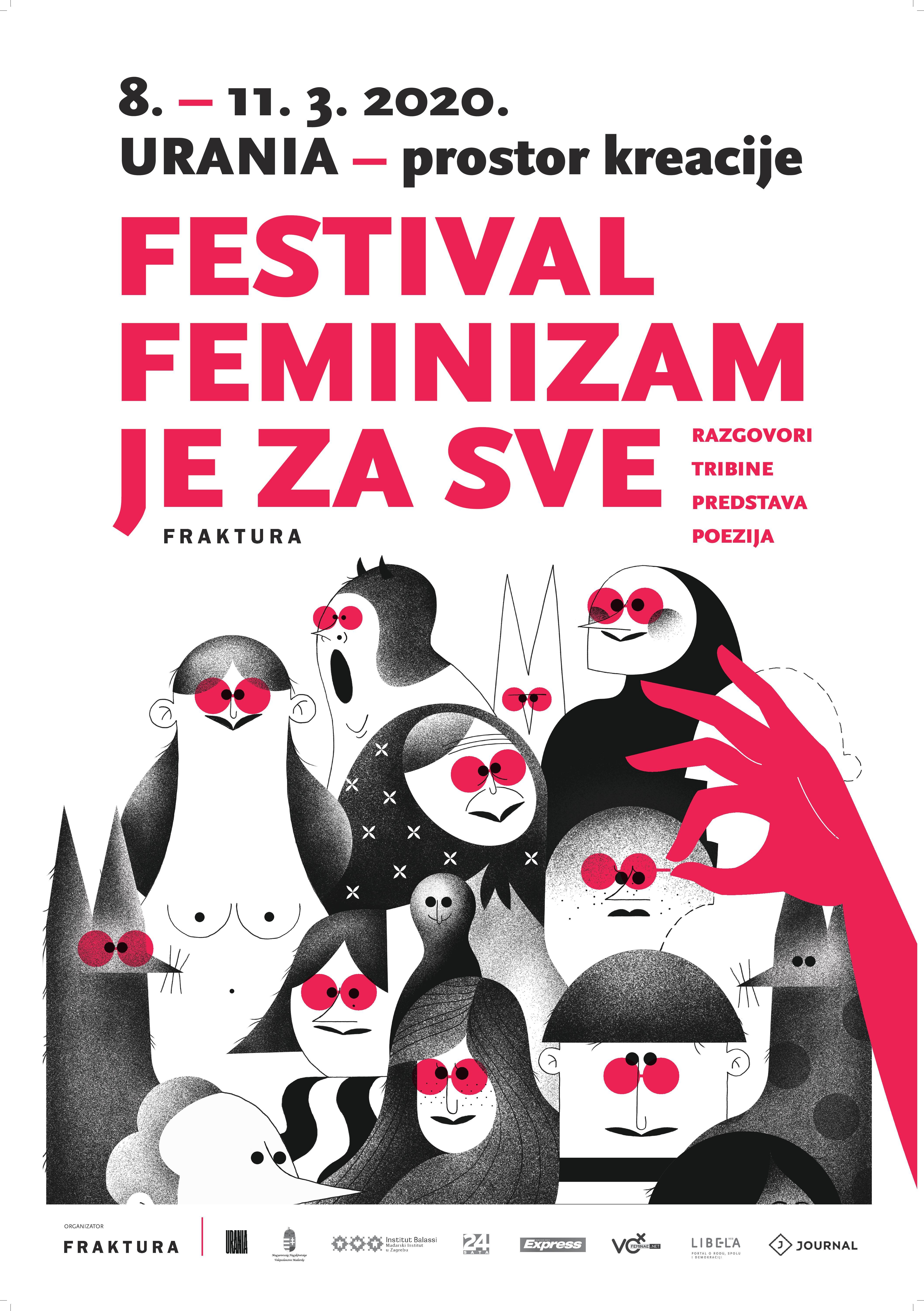 Festival FEMINIZAM JE ZA SVE (8. – 11. ožujka 2020., Zagreb)