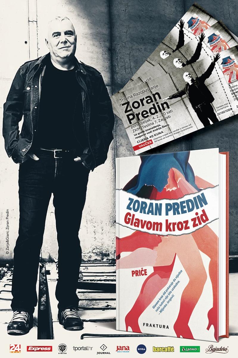 Ulaznica za predstavljanje knjige Zorana Predina